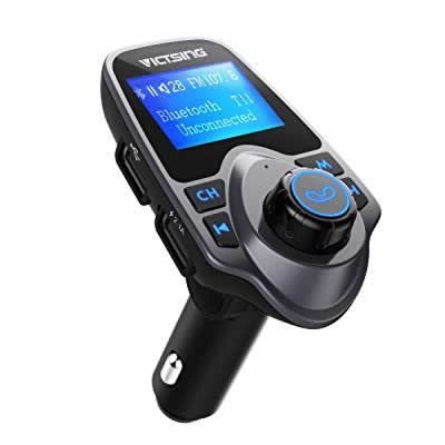 VicTsing FM Transmitter with USB Car Charger MP3 Player